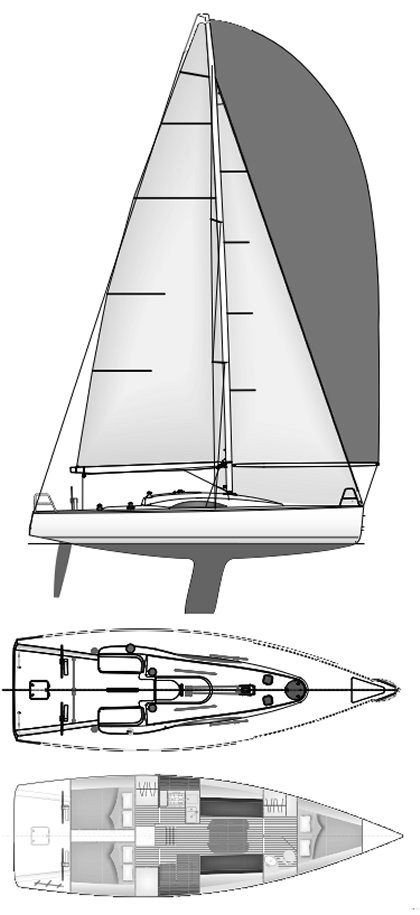 Archambault 40 - Ana Yacht Club - Plan vertical sectiune