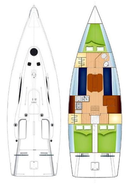 Archambault 40 - Ana Yacht Club - Schema generala 5